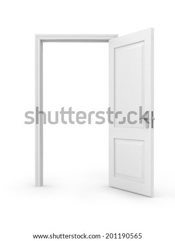 Open door - stock photo