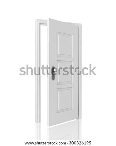 Open door - stock photo
