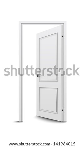 Open door. Raster version - stock photo
