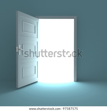 Open door to white light