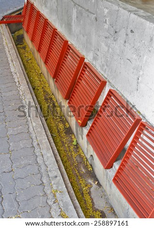 Open drain cleaning. - stock photo