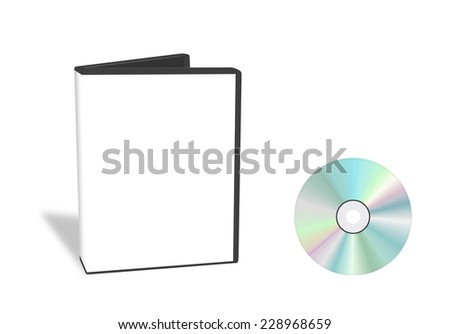 Open DVD box with cd isolated - stock photo