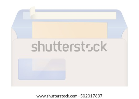 open envelope with letter 3d illustration isolated on white background raster version