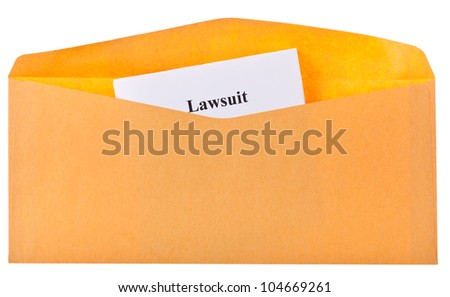 open envelope with looking out the corner of the letter - stock photo