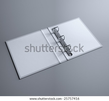 Open file folder (3d rendering) - stock photo