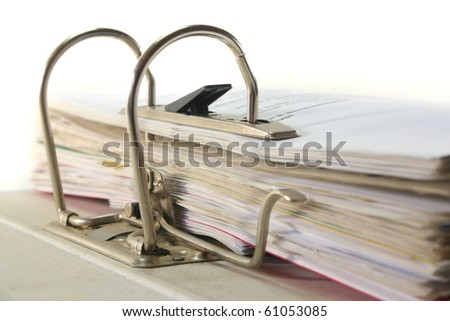 open file folder lying on a white background