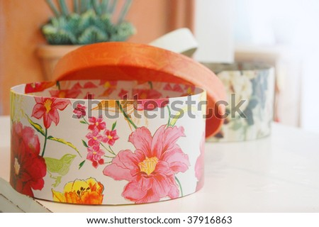 Open floral gift box
