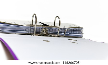 Open folder with the Affairs of the firm - stock photo
