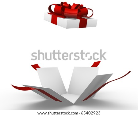 Open gift box - stock photo