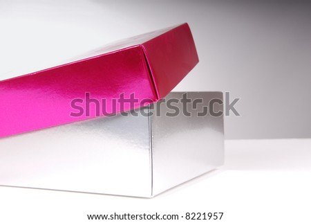 Open Gift Box - stock photo