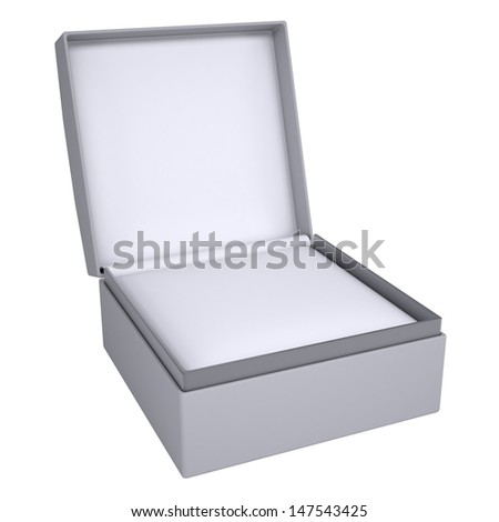 Open gift box. 3d render isolated on white background