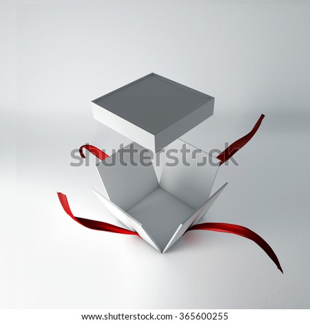 Open gift box illustration.