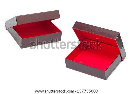 Open gift box. Isolated on white background
