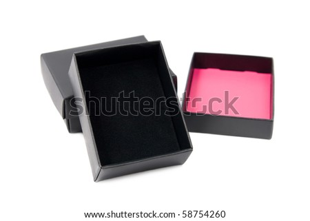 Open gift box. Isolated on white background. - stock photo