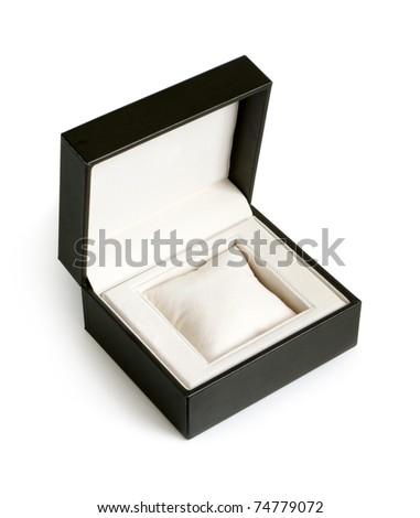 Open gift box on a white background - stock photo