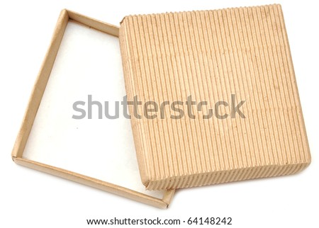 open gift cardboard box isolate on white - stock photo
