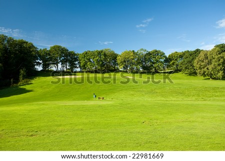 Open golf landscape in Molle, Sweden - stock photo