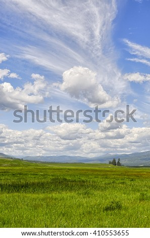 Open grasslands and big skies, Montana. - stock photo