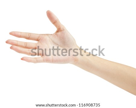Open hands. Holding, giving, showing concept - stock photo