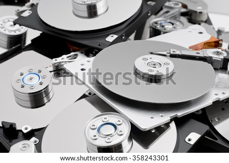 Open hard drives in bulk