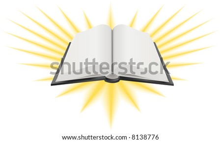 Open Holy Book Illustration. A  illustration of an open holy book such as the Bible, Torah or Koran