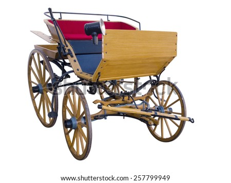 Open horse-drawn carriage front - stock photo