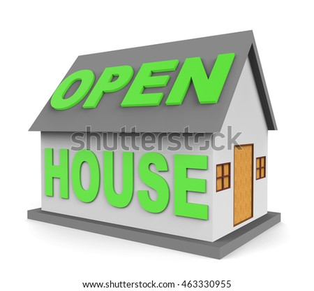 Open House Meaning Real Estate And Rent 3d Rendering