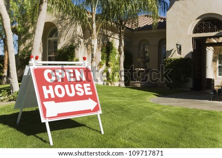Open House Sign Stock Images, Royalty-Free Images & Vectors ...