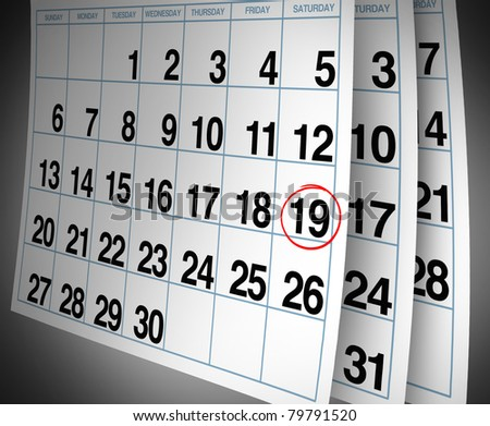 Open important date circled on a daily month calendar with a red mark representing planning and strategy for family and business events.