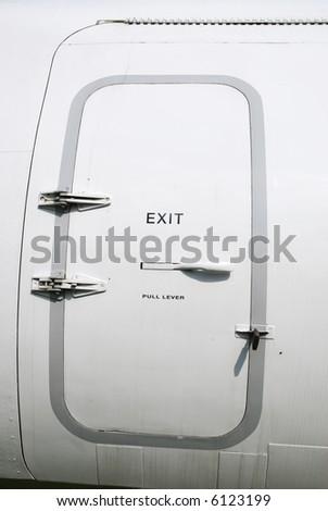 Open in case of emergency - stock photo