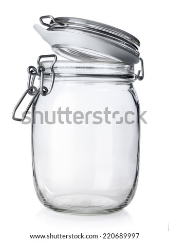 open jar canning isolated on white stock photo edit now 220689997