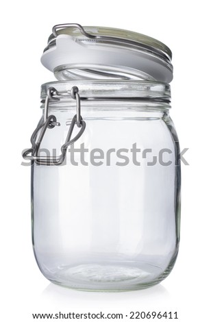 open jar canning isolated on white stock photo edit now 220696411