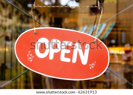 Open Label sign - stock photo