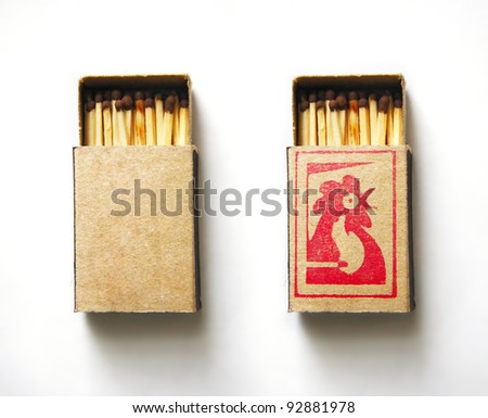 Open Matchbox - stock photo