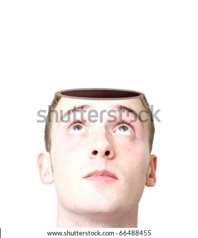 Open mind - stock photo