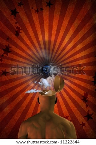 Open mind abstract - stock photo