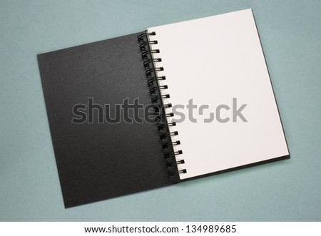open notebook - stock photo