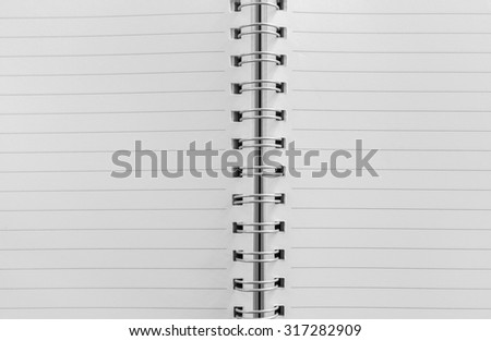 Open notebook  background