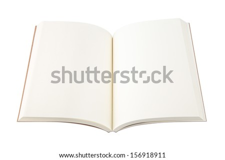 Open notebook isolated on white. - stock photo