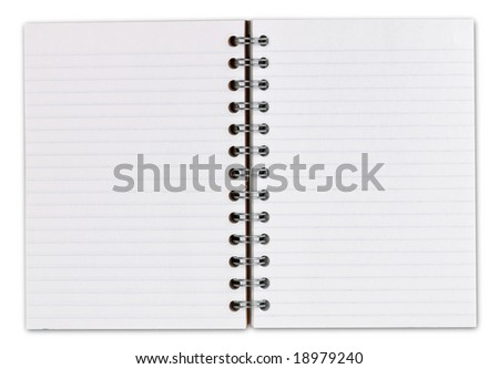 Open Notebook with clipping path