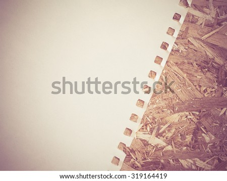 open notebook  with filter effect retro vintage style - stock photo