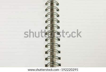 Open notebook with  white  two page for background