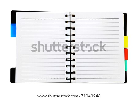 open notepad isolated on the white background