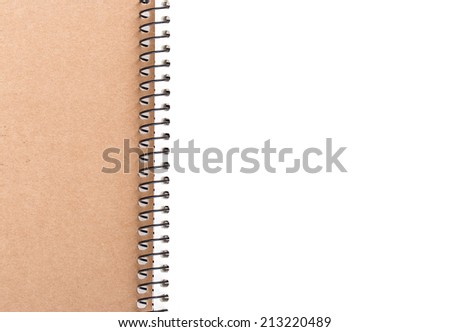 open notepad white paper sheet
