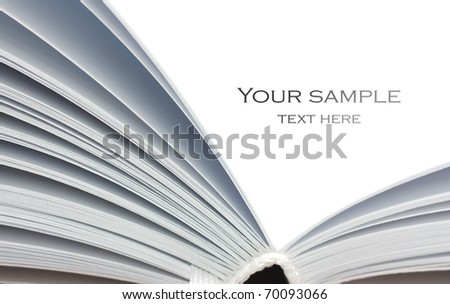 open notepad with pages on a white background - stock photo