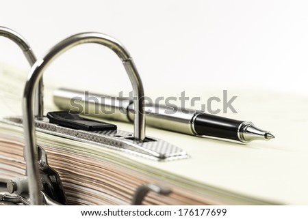 Open office ring binder - document management