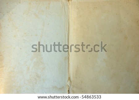 Open old blank book - stock photo