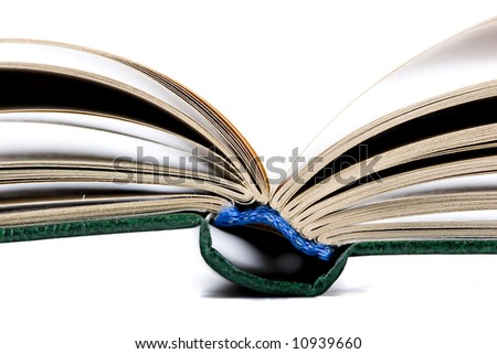 open old book isolated on the white background - stock photo
