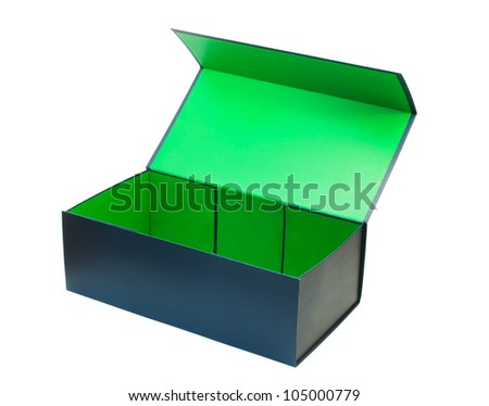 open packing box on white background