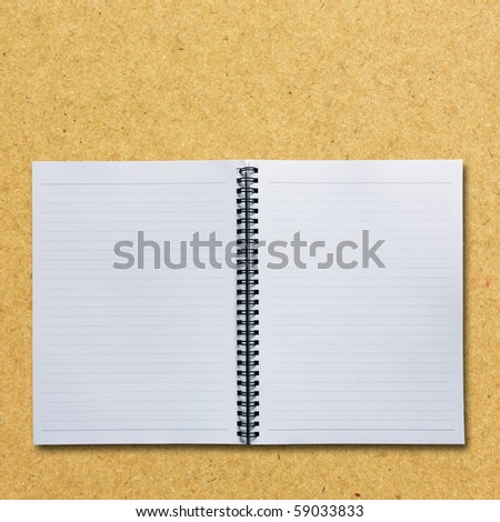Open 2 pages notepad - stock photo